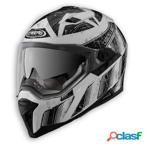 Casco stunt steez de caberg. integral para moto. color blanco / negro