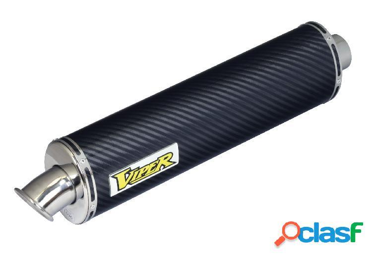 Fibra de carbno ovalado tubos de escape para moto kawasaki zx-9r ninja b1,2,3,4,año 1994-1997 (marca viper)