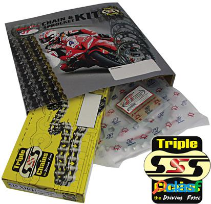Triple s de la cadena o-anillo y la rueda dentada kits para moto aprilia modelo 250 rs año 1995-2004