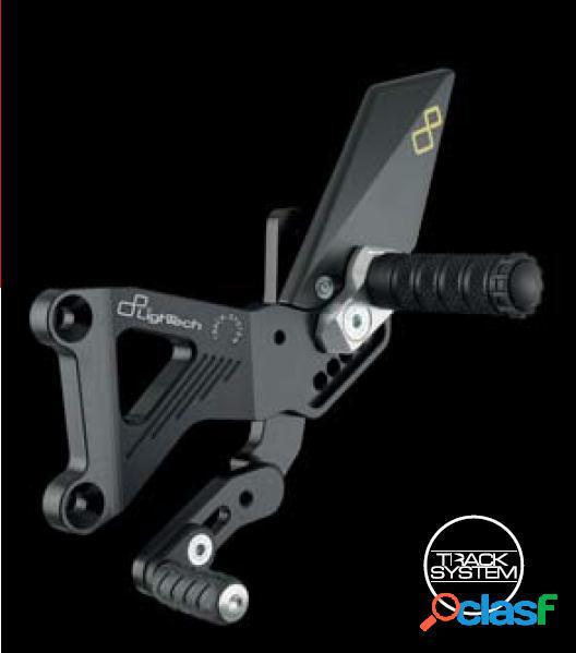 Cojinete y pedal abatible para moto triumph street triple 675 / 675 r (2007-2012) lightech