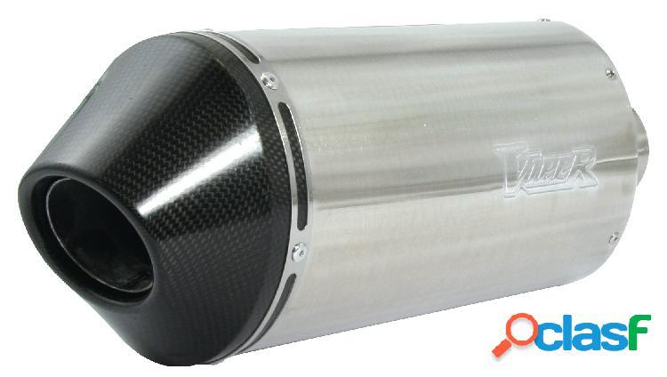 Viper raza latas para kawasaki: zx-9r ninja b1,2,3,4 (1994-1997) deslizarse-on aleación óvalo stubby (39 cm) con fibra de carbono de tapa
