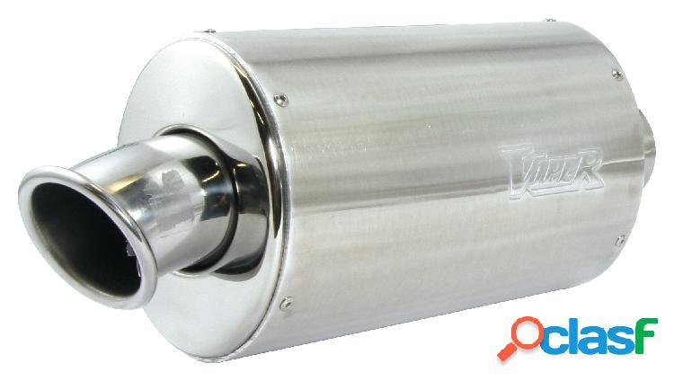 Tubo de escape para moto bmw: f800 r (2009-2012) deslizarse-on aleación óvalo stubby (39 cm) con fibra de carbono de tapa