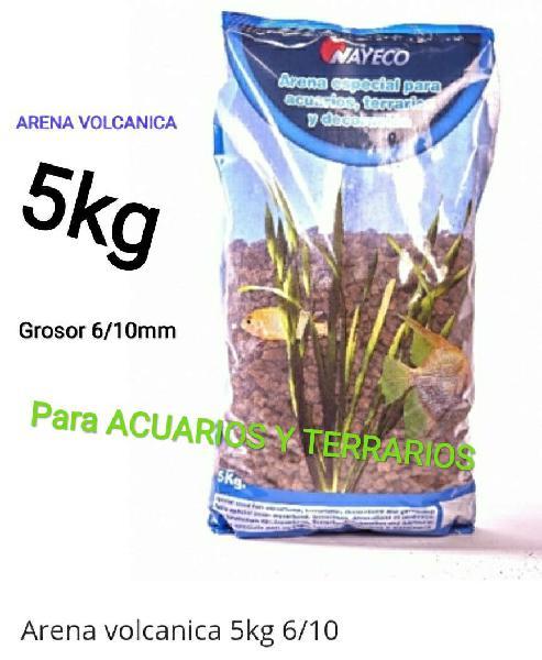 5kg arena grava volcanica acuario o terrario