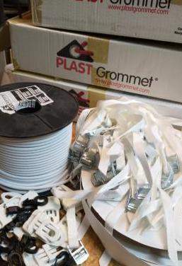 Accesorios pancartas plastgrommet