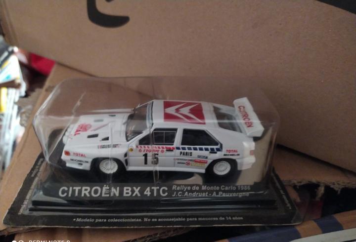 Blister precintado coche citroen bx 4tc rally rallye