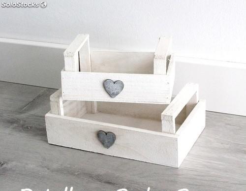 Cajas de madera vintage. cajitas boda, comunión, candy bar