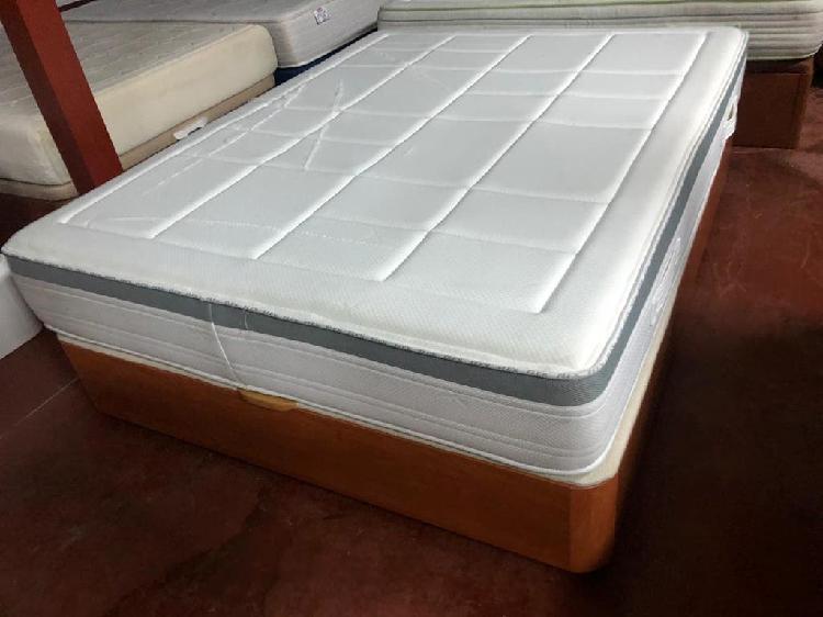 Canapé madera flex y colchón flex visco 150x190