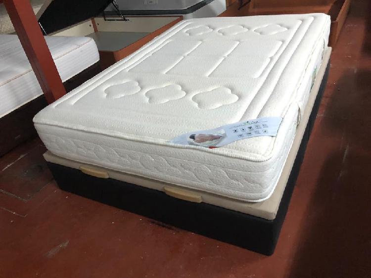 Canapé polipiel y colchón biosoja visco 135x190