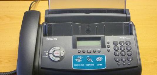 Fax / teléfono fijo con copiadora