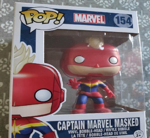 Figura funko pop capitana marvel masked marvel nuevo