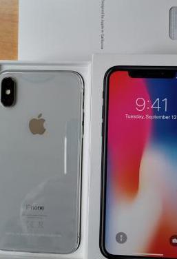 Iphone x 64gb silver nuevo garantía