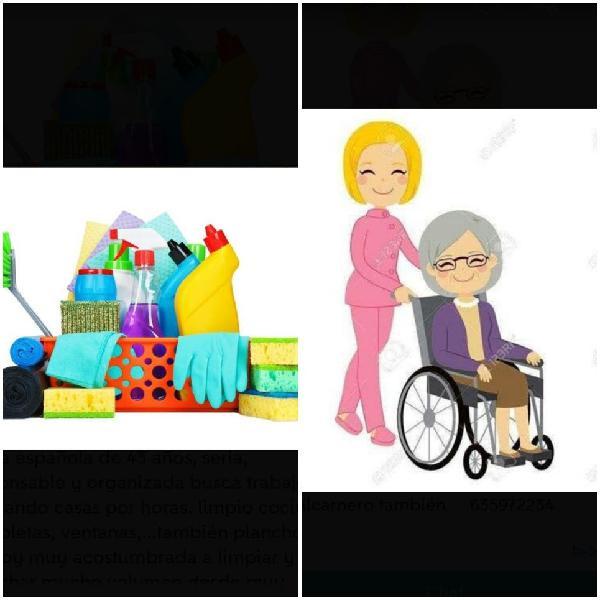 Limpieza y cuidar abuelos