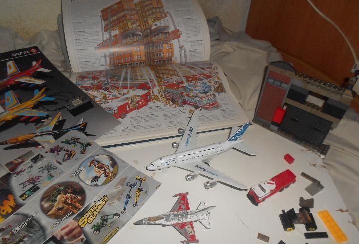 Lote aeropuerto, airbus sonido, coches, libro gigante,