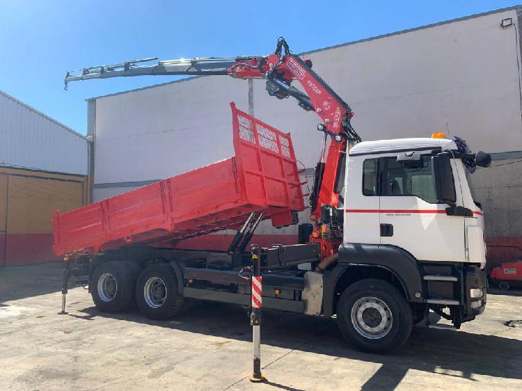 Man camion grua basculante tgs 33.400 fassi f 235 xp