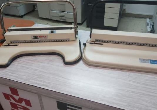 Maquinas de encuadernar canutillo y alambre