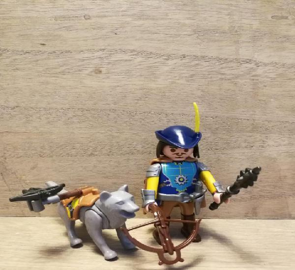 Medieval con perro playmobil