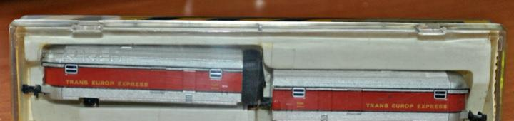 Par de furgones de apoyo del talgo de ibertren, ref. 281.