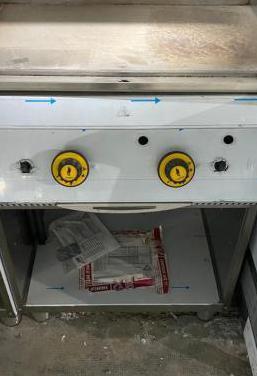 Plancha industrial a gas con mueble nueva