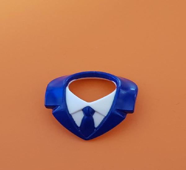 Playmobil cuello corbata azul marino camisa blanca piloto