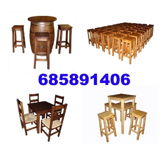 Que precios!, pida su presupuesto. silla,mesa,tabu