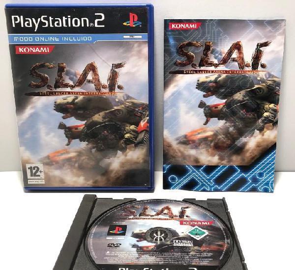 S.l.a.i. steel lancer arena international playstation 2 ps2
