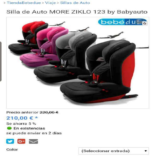 Silla bebé coche marca bebédue (más artículos niño y