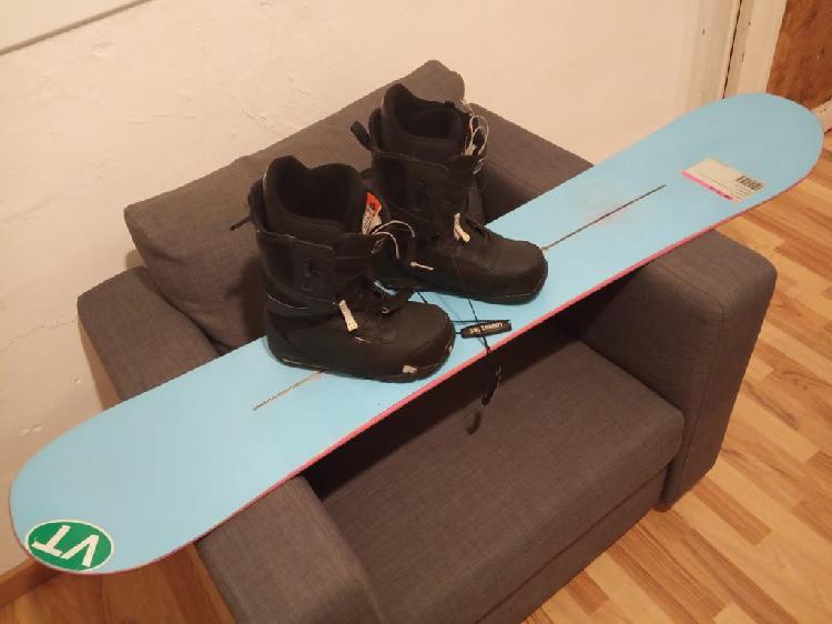 Snowboard y botas burton usado