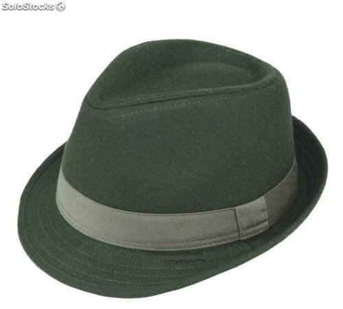 Sombrero ala corta de paño. 4 colores.