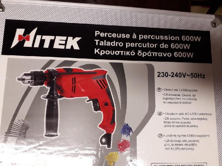 Taladro percutor 600w regalo caja para herramienta