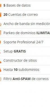 Web hosting todo incluido - sitio web/