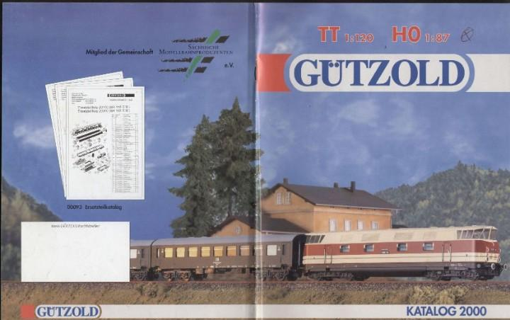 Catàlogo gützold 2000 spur tt 1/120 ho 1/87 - en alemán y
