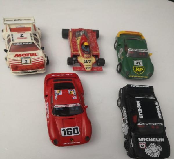Lote 5 coches exin / scalextric. ver descripción y fotos.