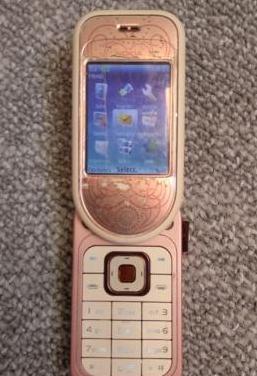 Nokia 7373 ( 7370 ) blanco y rosa libre del 2006