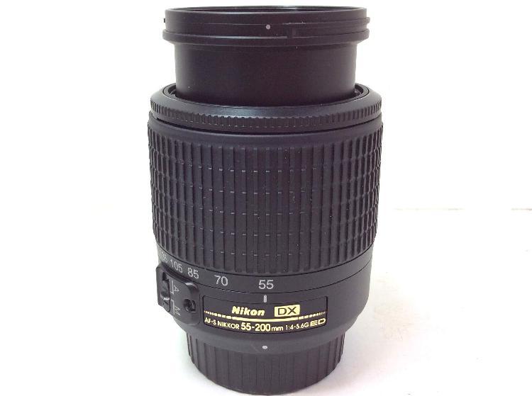 Objetivo nikon af nikkor 55-200mm f4.5-5.6 dx nikkor ed