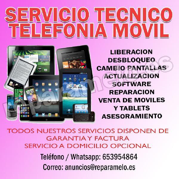 Servicio técnico telefonía móvil y tablets