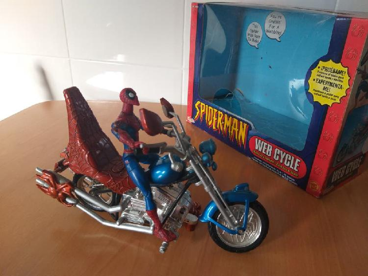 Spiderman y moto harley año 2002