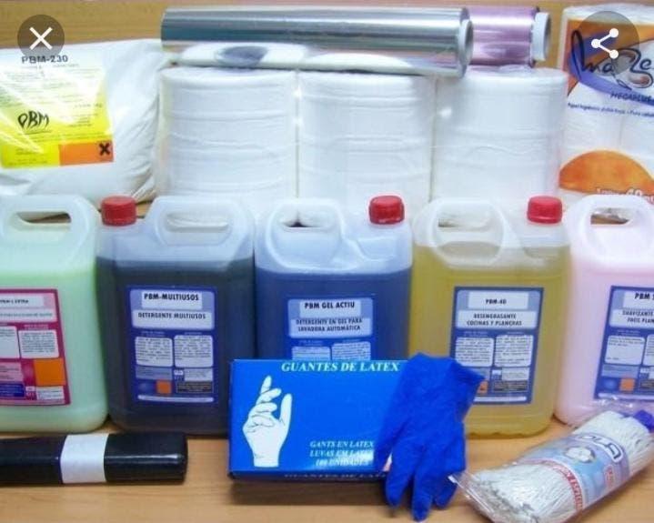 Productos de limpieza y envases