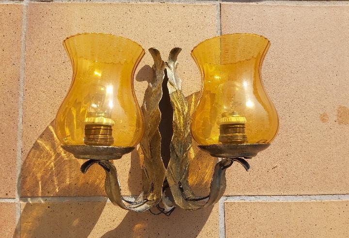 Aplique lámpara antigua hierro