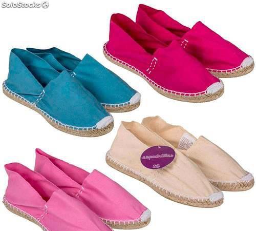 Alpargatas para boda colores lisos surtidos. zapatillas