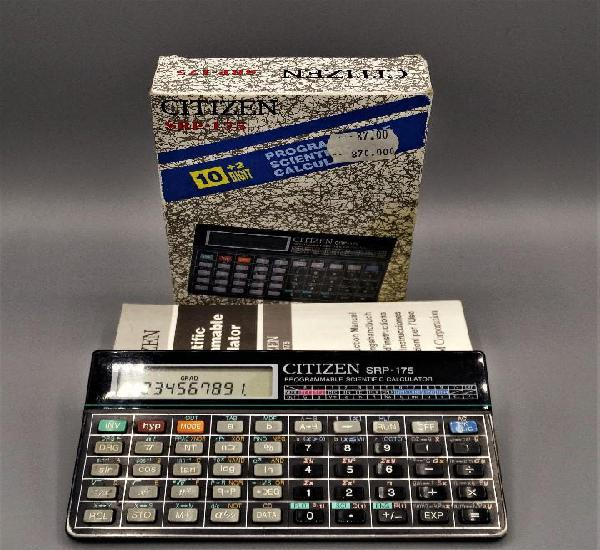 Calculadora citizen srp-175.calculadora vintage, antigua de
