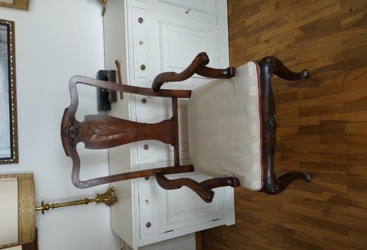 Juego de comedor de 6 sillas y 2 sillones