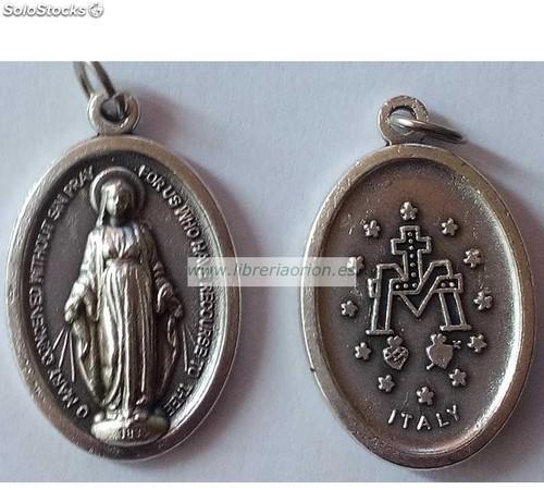 Medalla aluminio Virgen Milagrosa