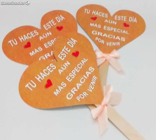 Pai pai corazón de cartón frases boda