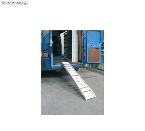 Rampa de aluminio plegable y ligera