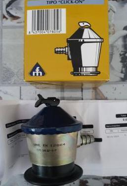 Regulador gas propano/butano 50milibares
