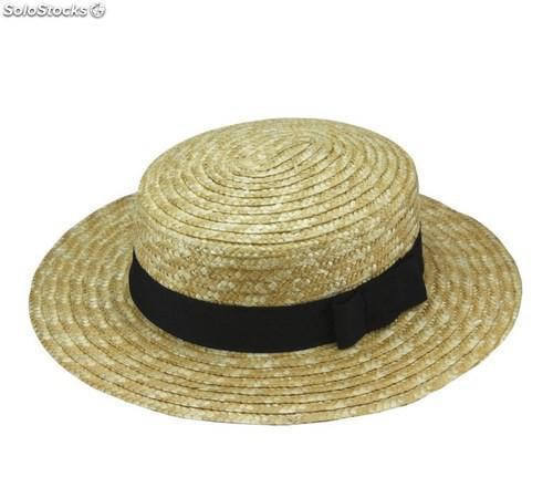 Sombrero canotier. Modelo chevalier.