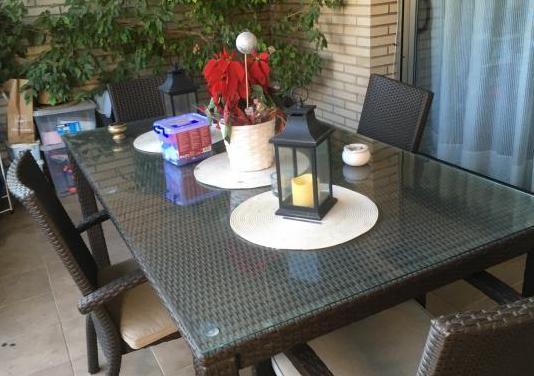 Mesa jardin con sillones