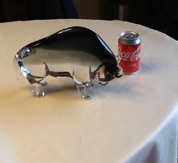 Precioso toro cristal murano. peso 3,500, nuevo