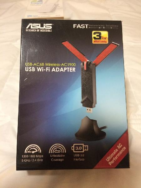 Antena asus usb-ac68 adaptador inalámbrico usb 3.0
