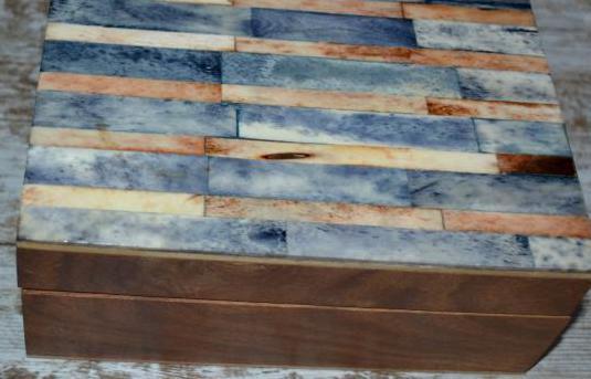 Caja madera y nacar